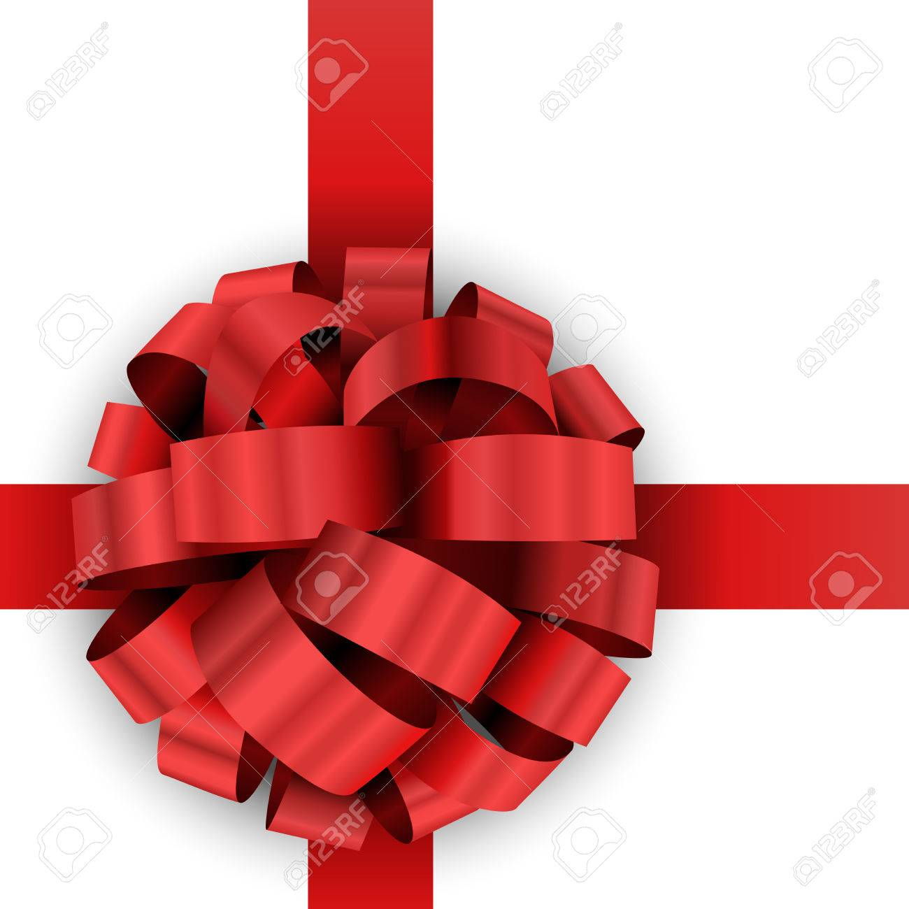 christmas present red bow vector template isolated on white christmas present red bow vector template isolated on white background stock vector 24595177