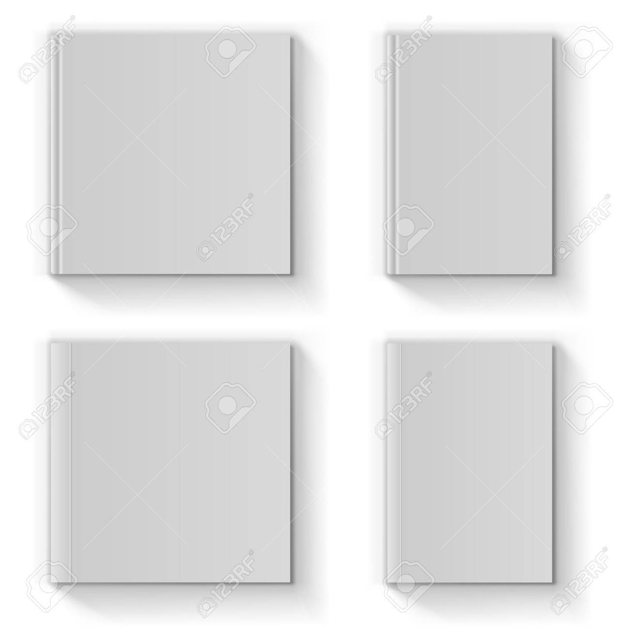 Blank book cover vector template isolated on white background - 29672189
