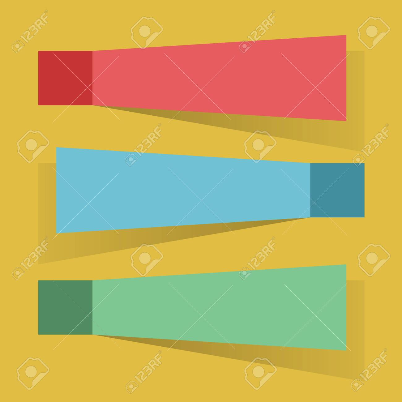 Color Sticky Notes Flat Design Vector Template Royalty Free – Sticky Note Template