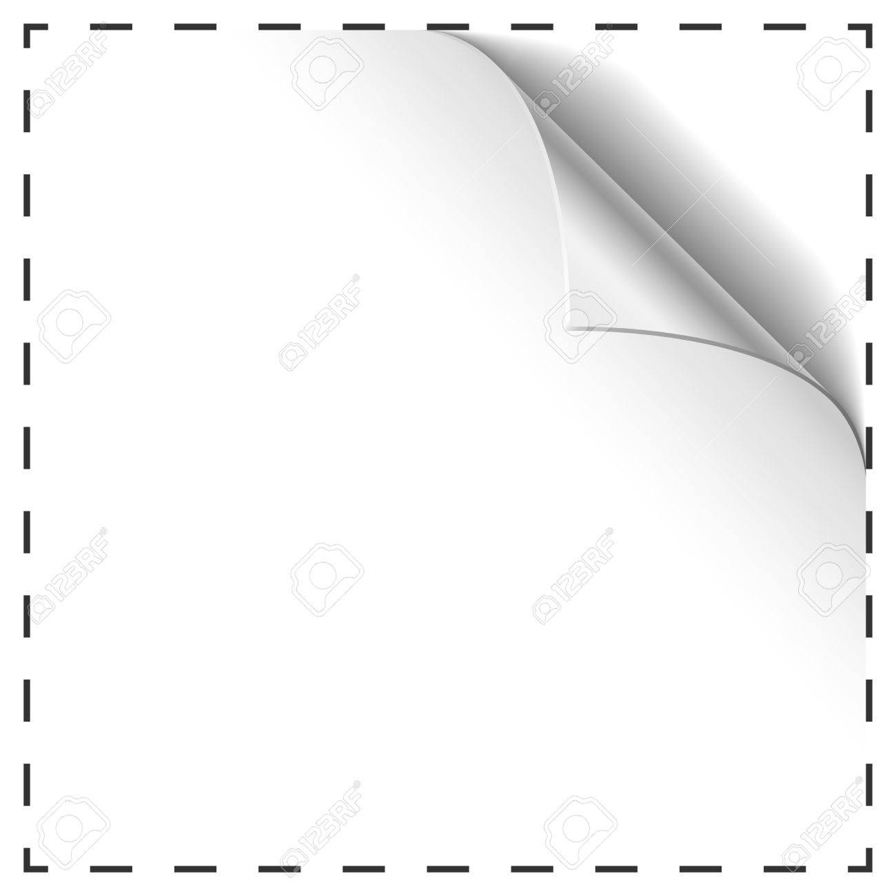 blank coupon vector template curled corner royalty blank coupon vector template curled corner stock vector 32155407