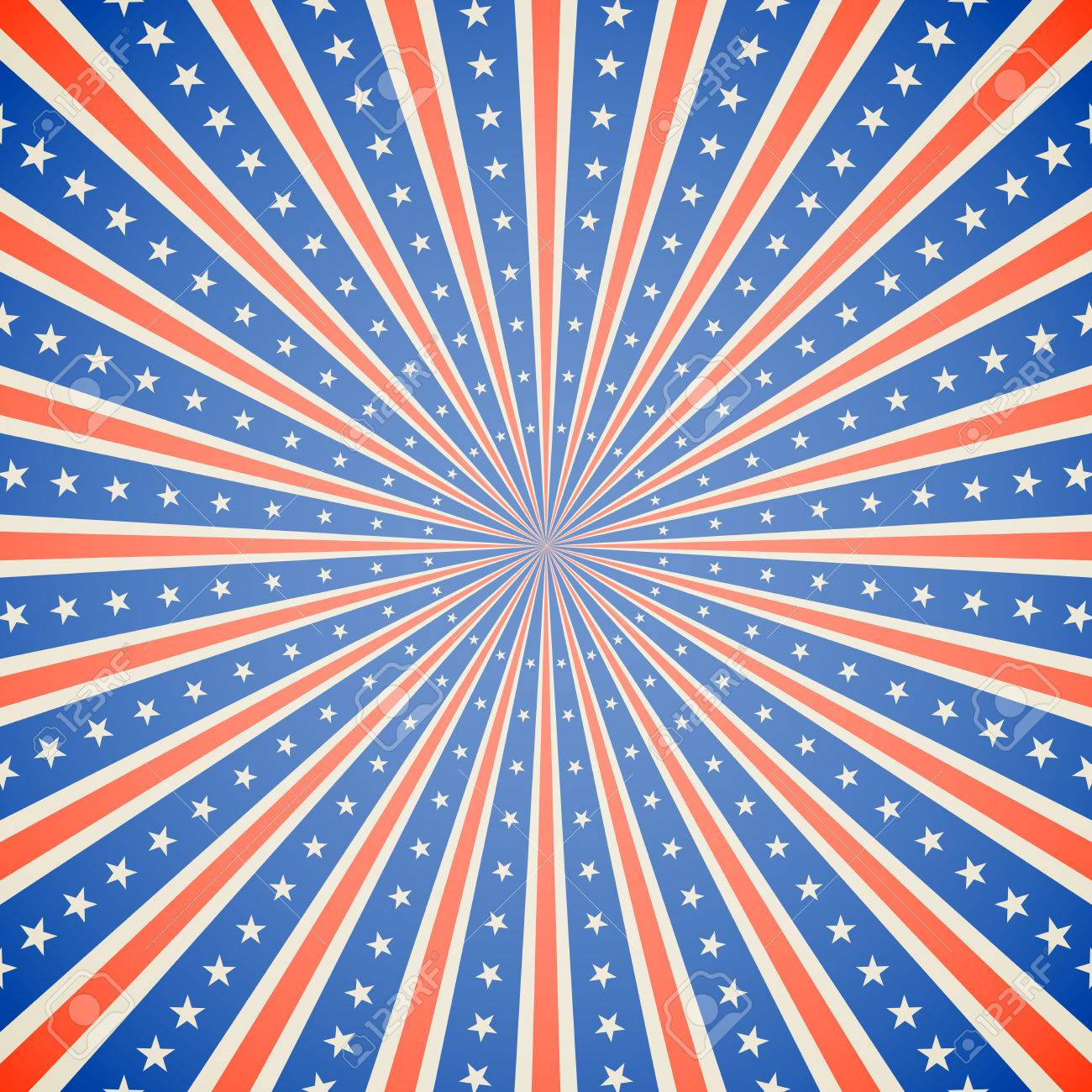 July 4 Independence Day white red and blue burst vector background. - 41733791