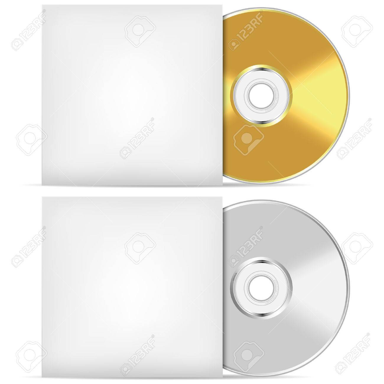 Blank CD Or DVD Advertising Vector Template. Royalty Free Cliparts ...