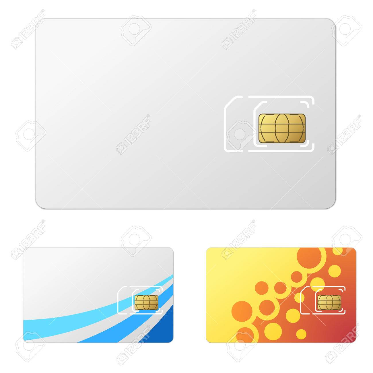 Blank White New SIM Card Template With Simple Design Examples - Sim card template