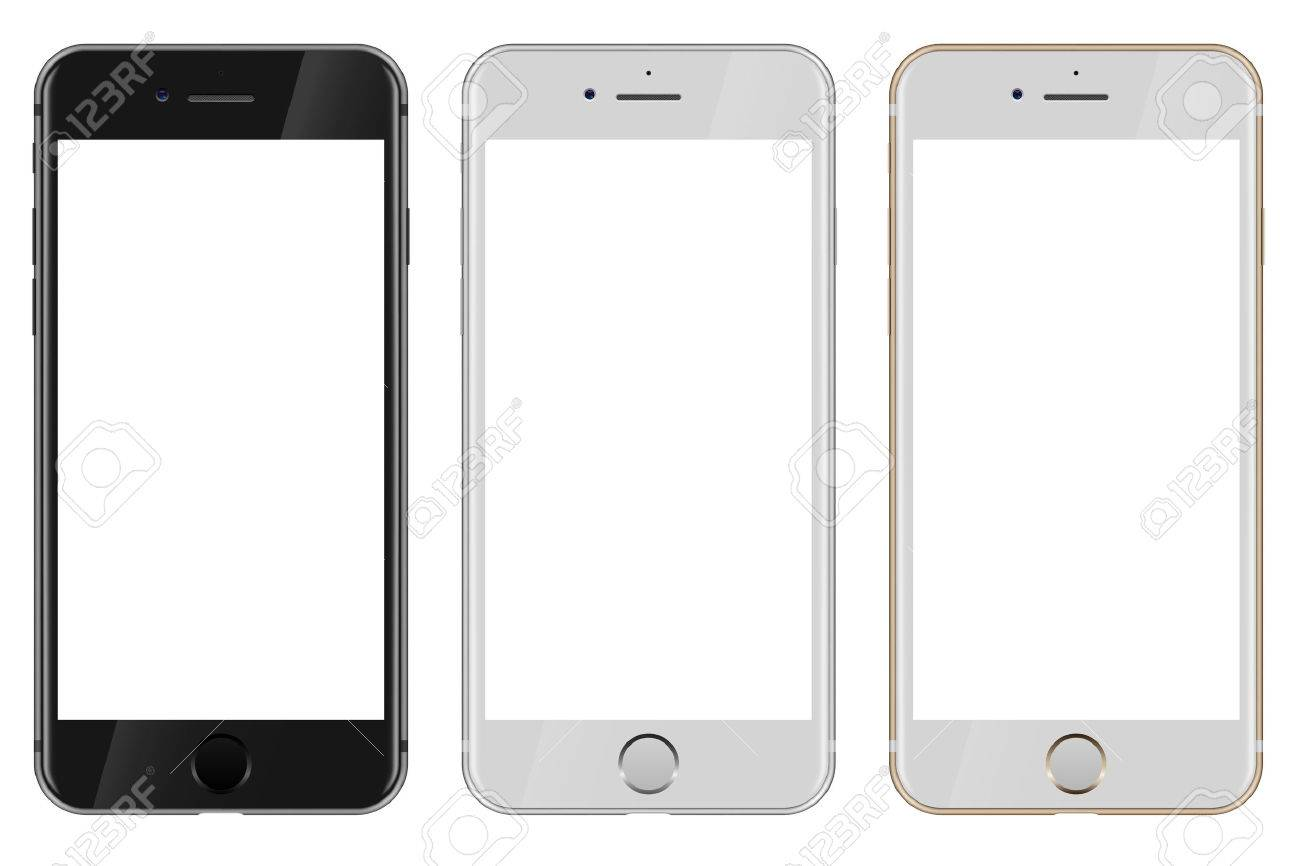 Saint petersburg russia september 7 2016 front view of black stock photo saint petersburg russia september 7 2016 front view of black white and gold apple iphone 7 with blank white screen isolated on white maxwellsz