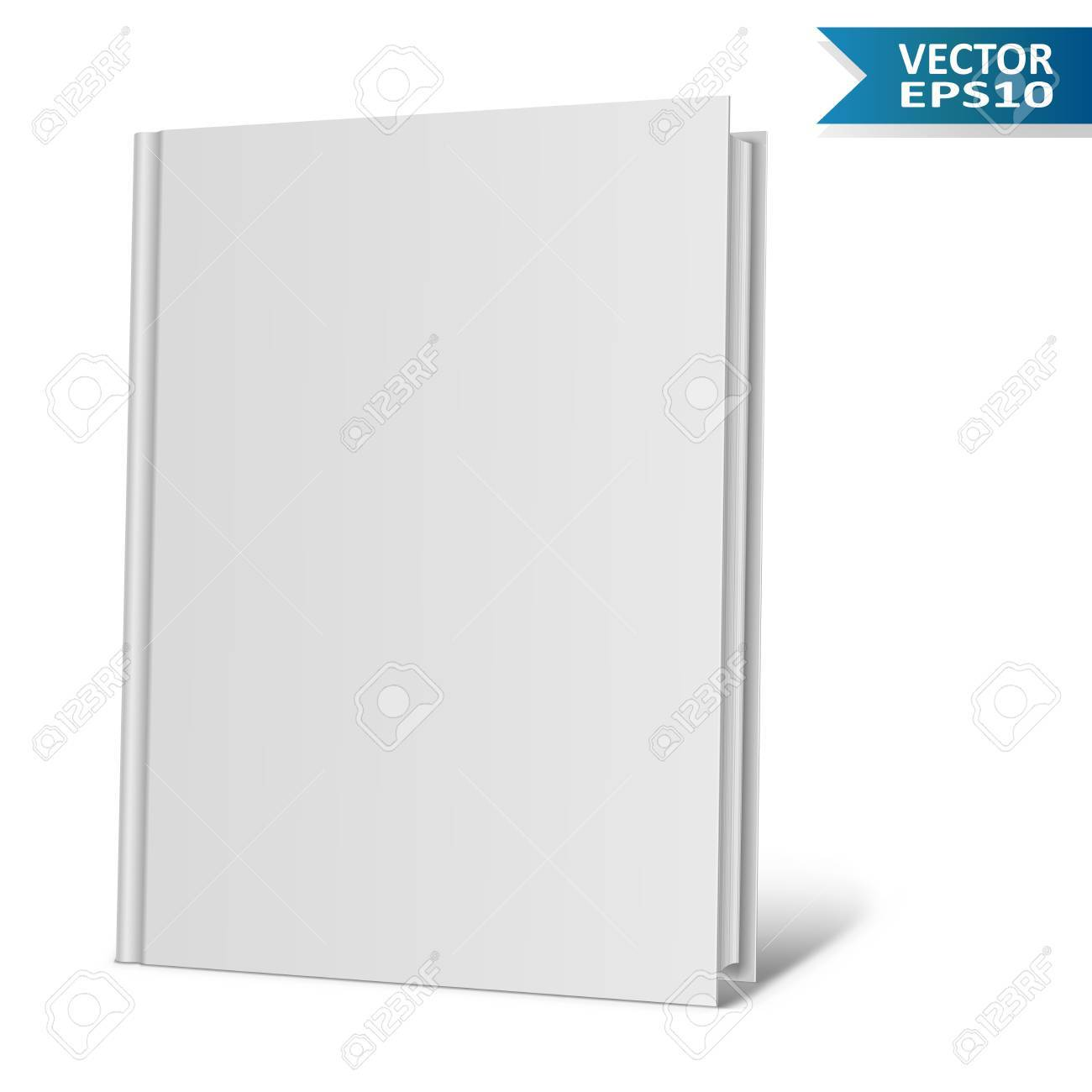Livre Vierge Isole Illustration Vectorielle Isolee
