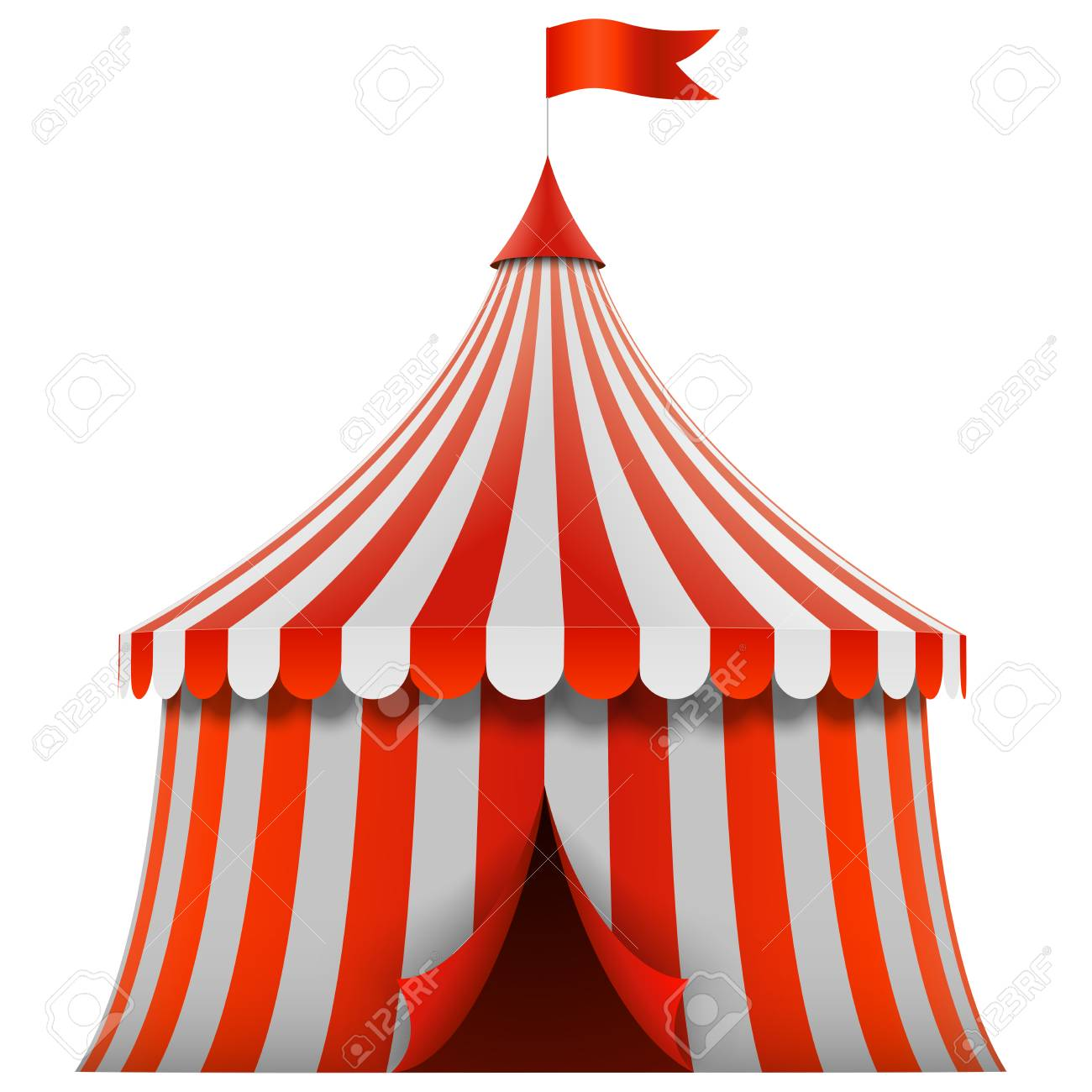 Image result for red and white circus tent