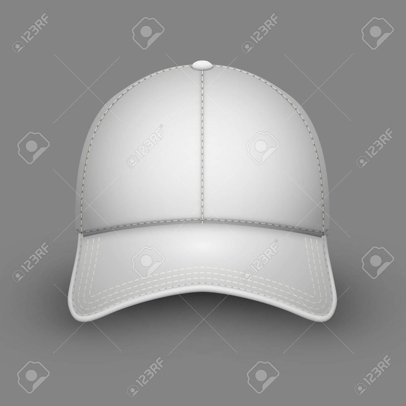 Foto de archivo - Plantilla de vector de gorra de béisbol blanco en blanco.  Maqueta de diseño de emblema. ad72f64a84a