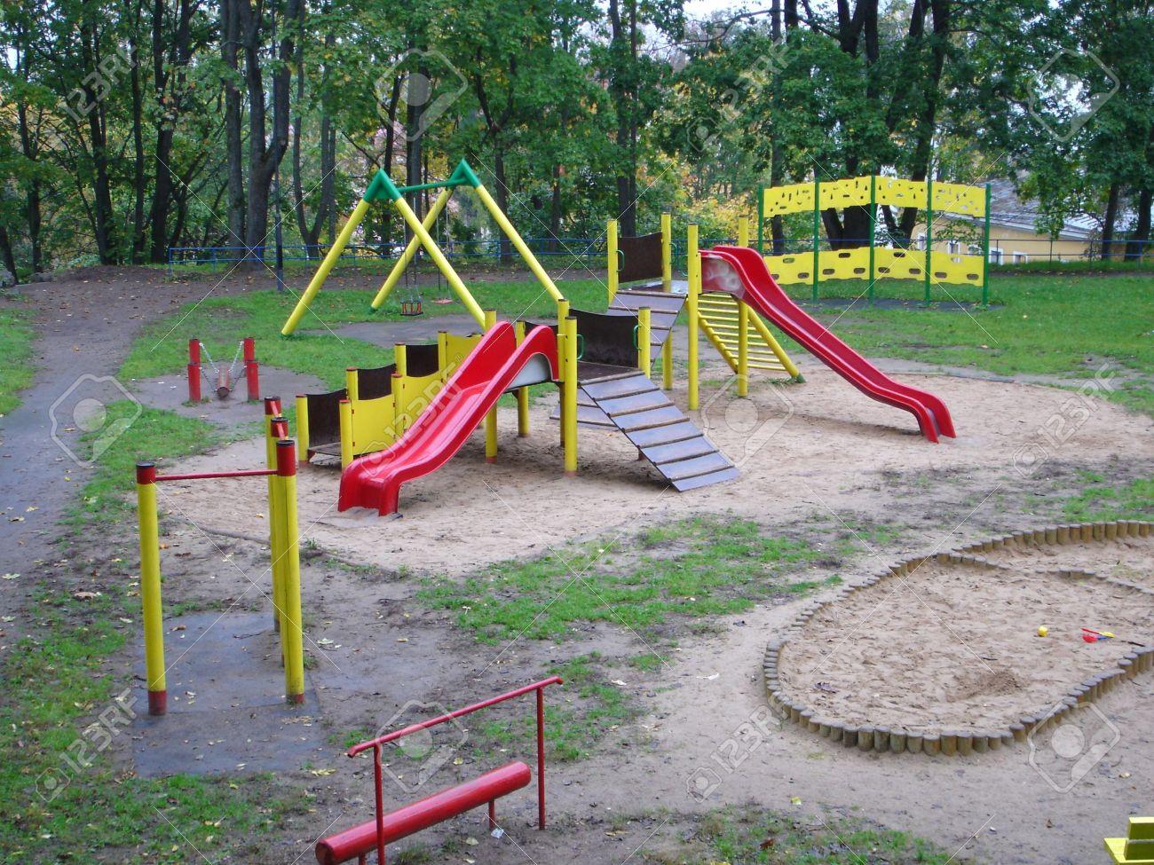 Park Playground Slide