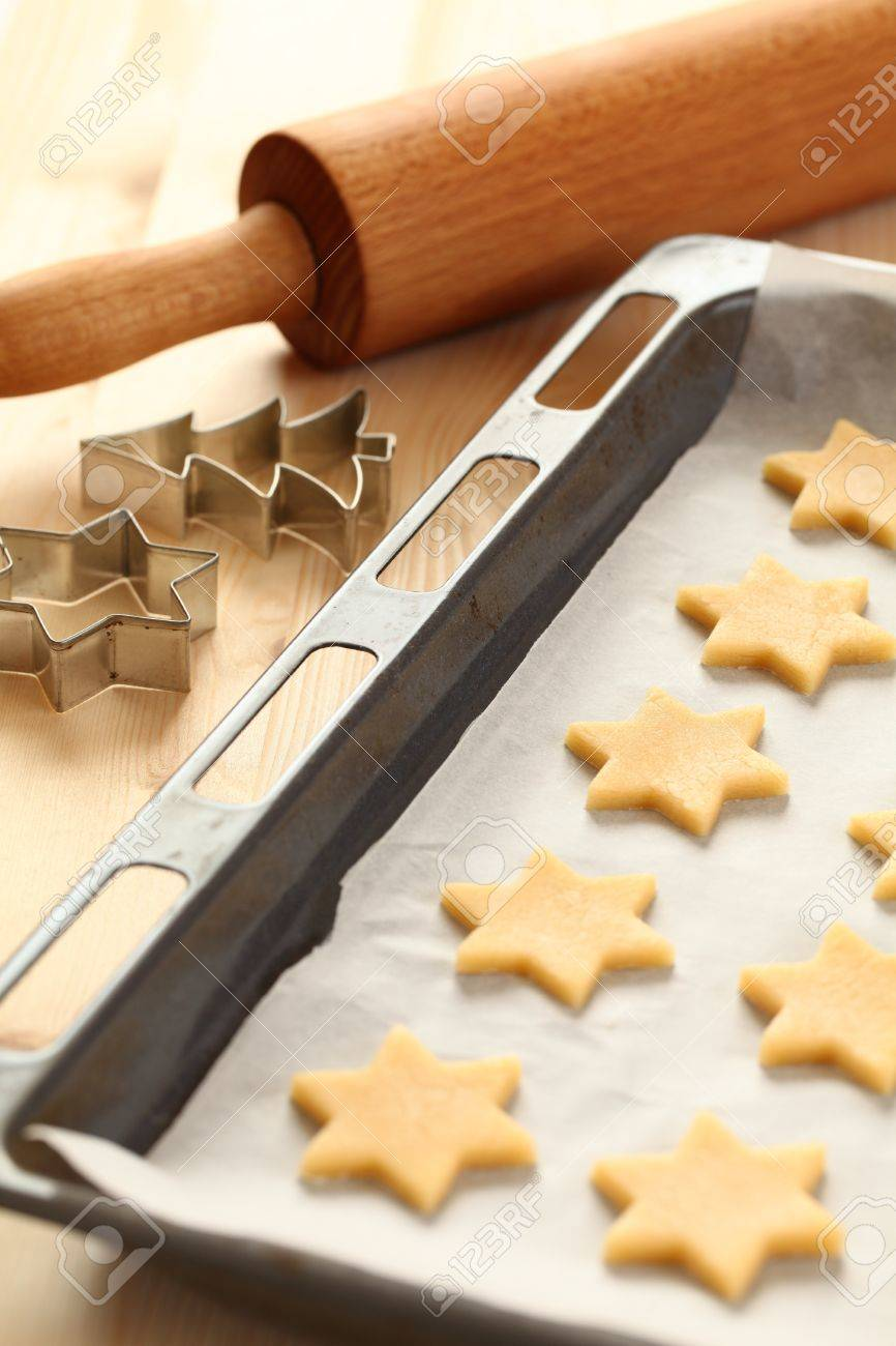 Kekse Backen Weihnachten.Stock Photo
