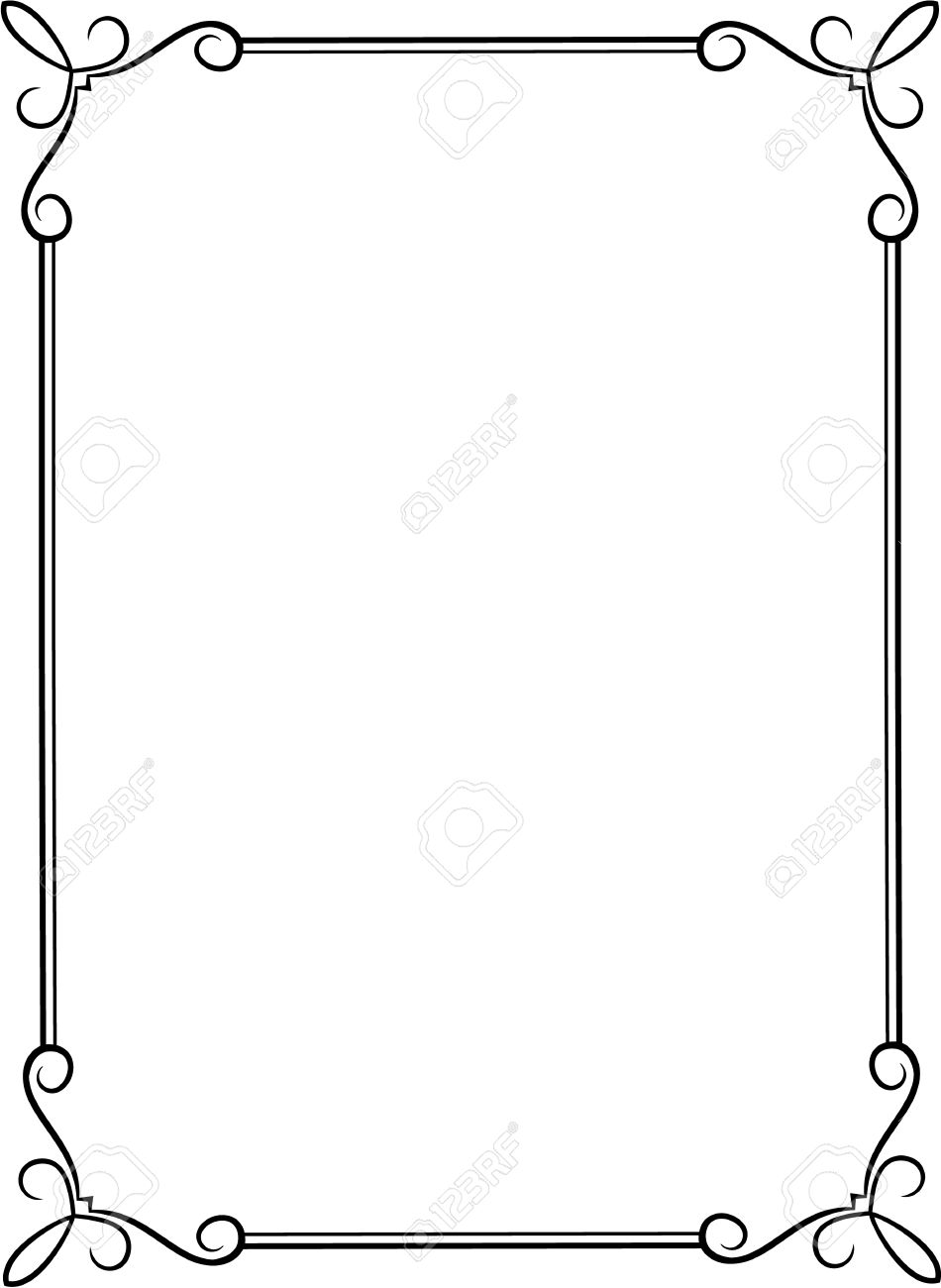 Simple Black Frame With Decorative Corners Royalty Free Cliparts
