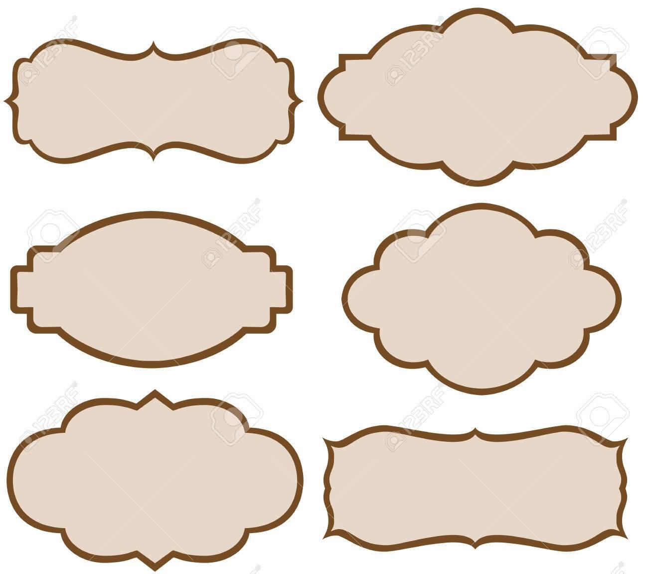 Set of vector decorative labels