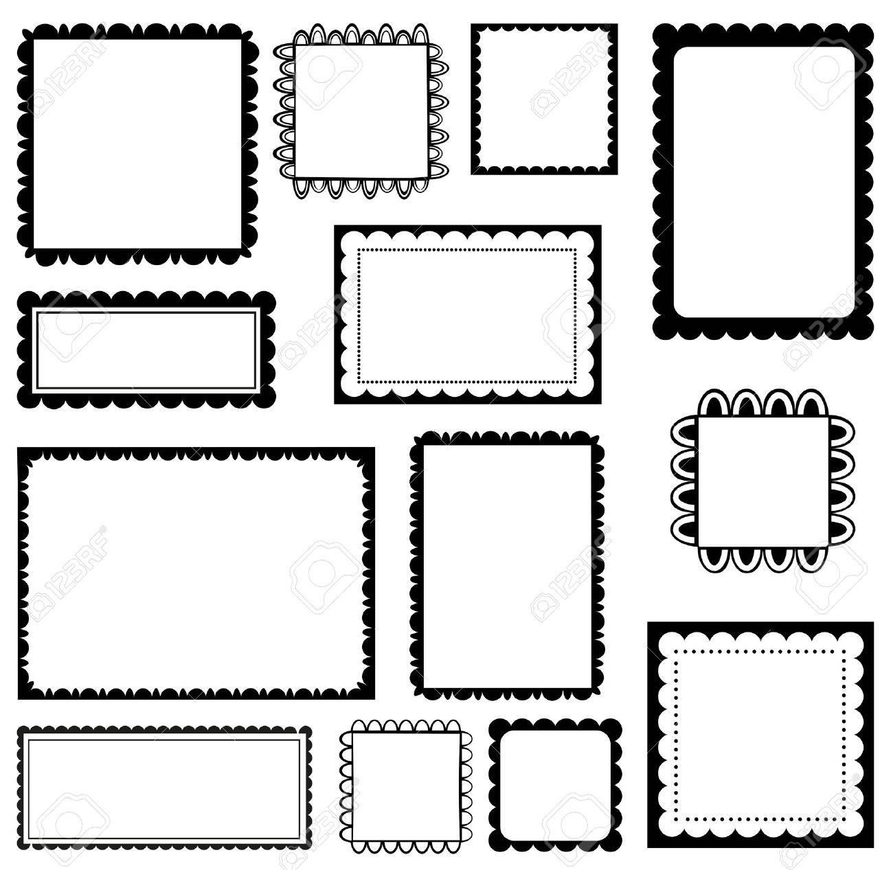 Set of scalloped frames - 50321456