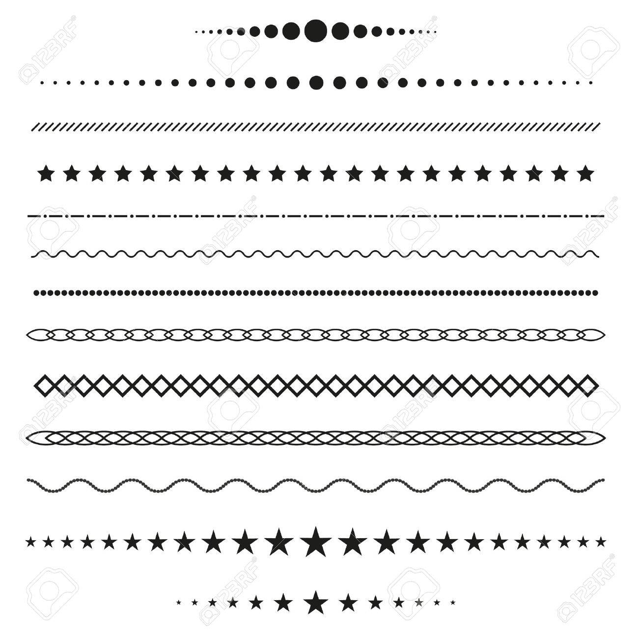 Collection of vector dividers - 50321542
