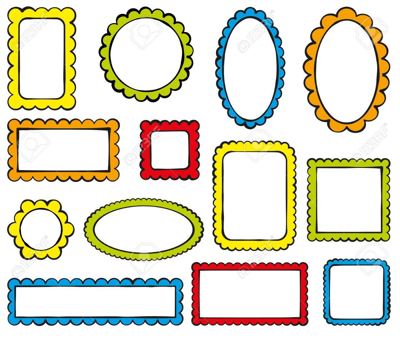 Sammlung Von Farbe überbackene Rahmen Lizenzfrei Nutzbare ...