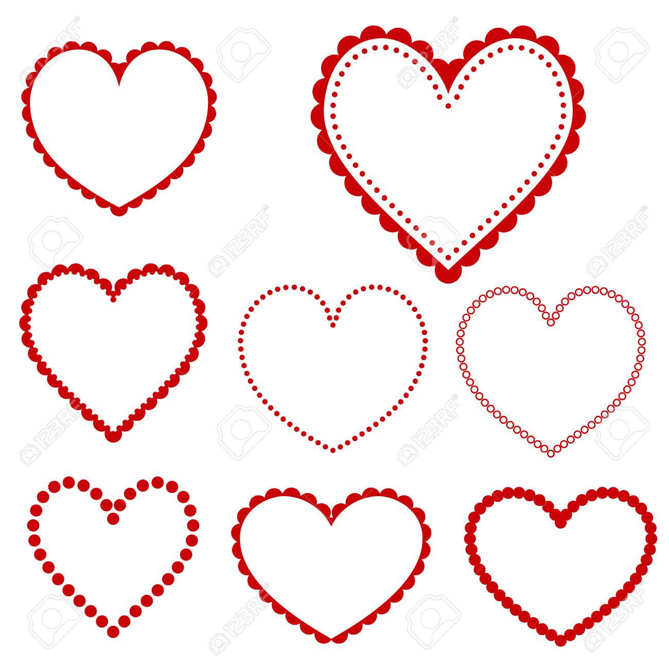 Collection Of Heart Frames - Vector Royalty Free Cliparts, Vectors ...