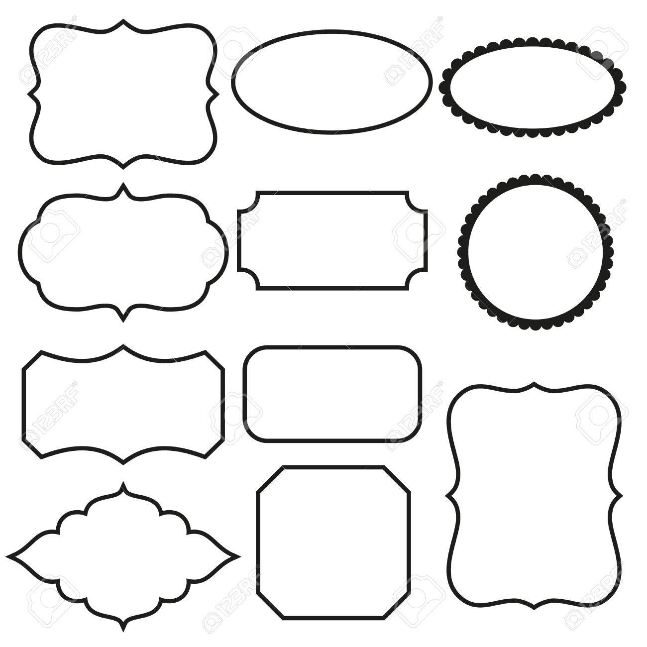 Black And White Decorative Frames Royalty Free Cliparts, Vectors ...