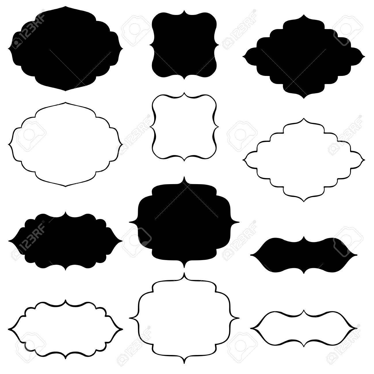Bracket Black Decorative Frames Royalty Free Cliparts, Vectors, And ...