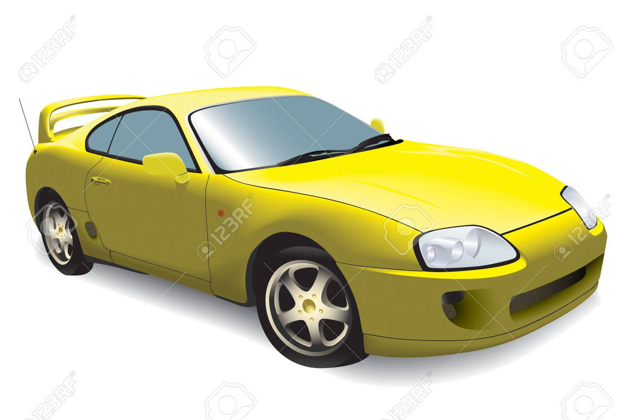 sport car isolated on white background Stock Vector - 5415054
