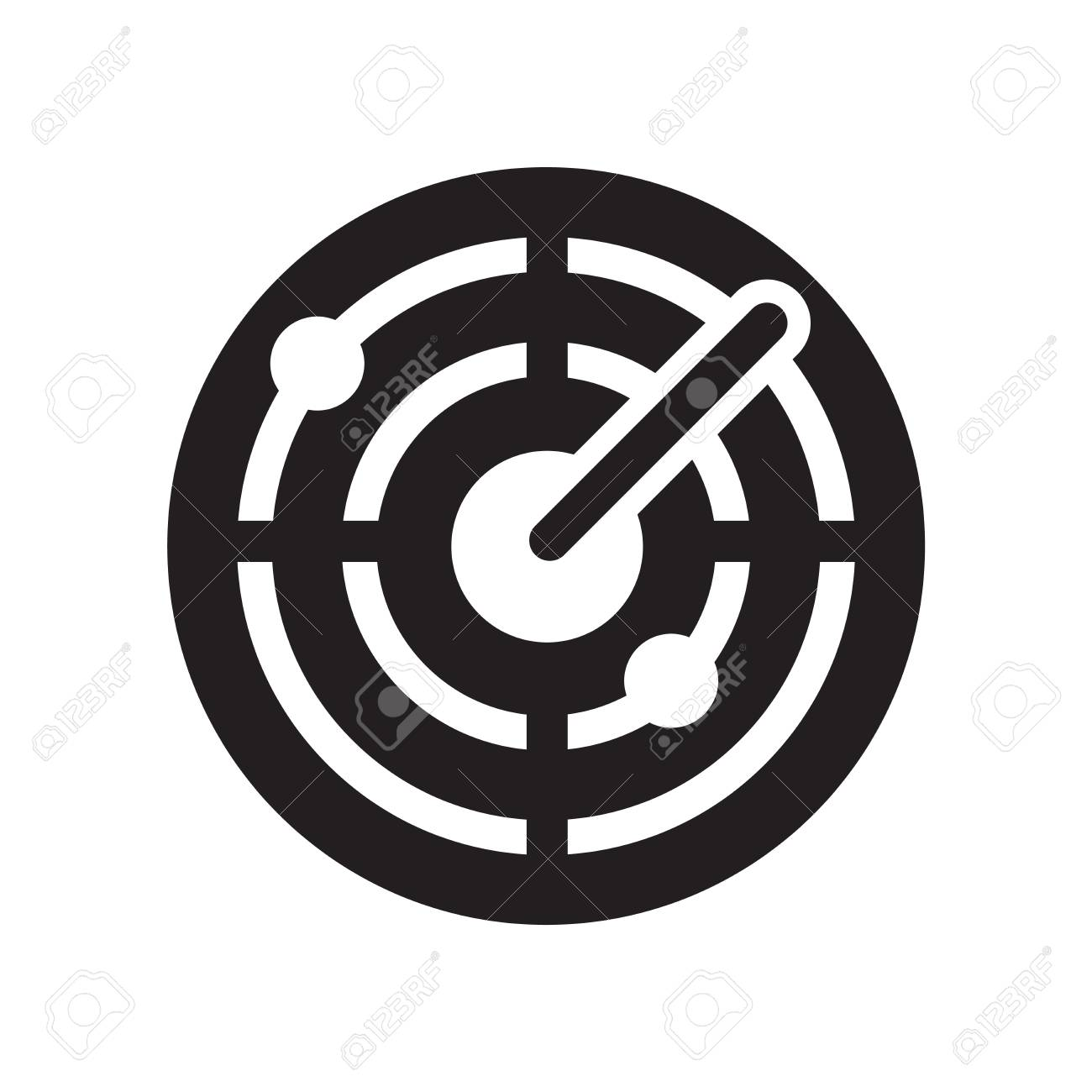 Radar icon vector isolated on white background for your web and mobile app design, Radar icon concept - 107066103