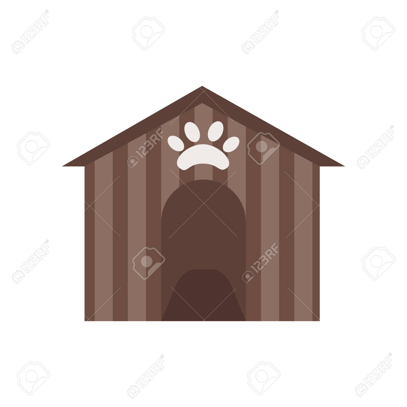 Kennel icon vector isolated on white background for your web