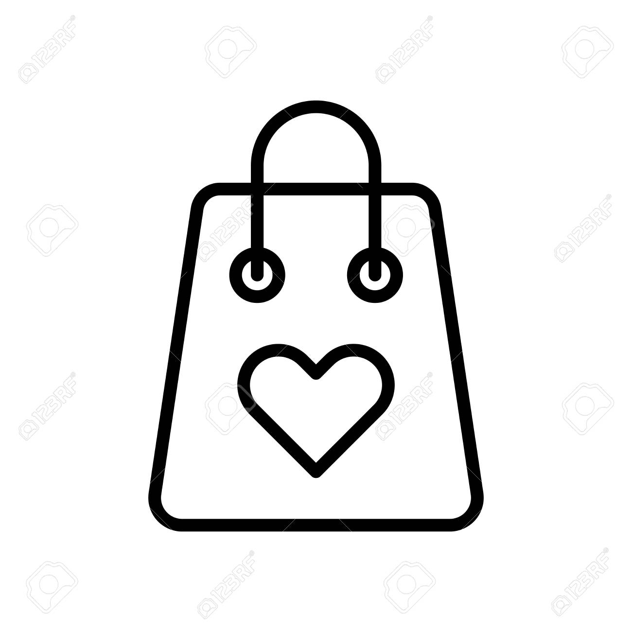 Shopping Bag Icon Vector Isolated On White Background Shopping
