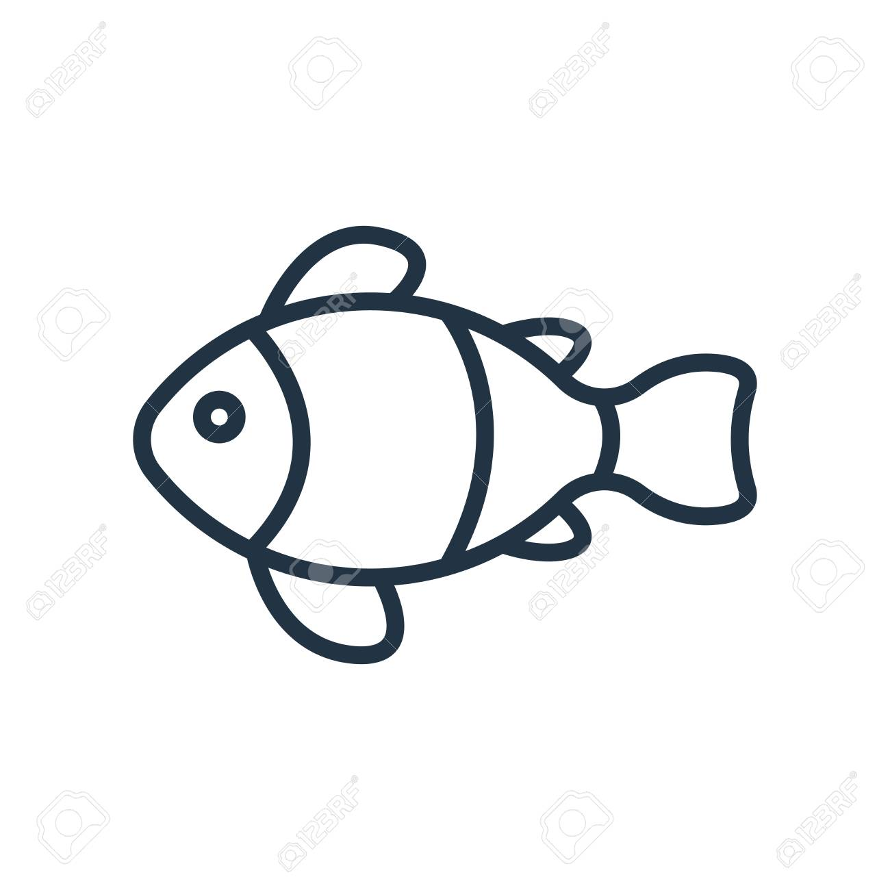 Clown Fish Icon Vector Isolated On White Background Clown Fish