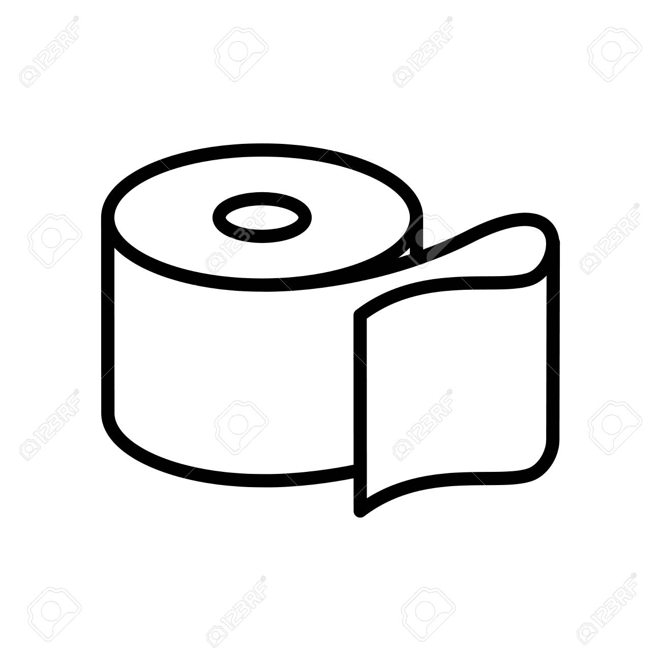 Toilet Paper Icon Vector Isolated On White Background Toilet