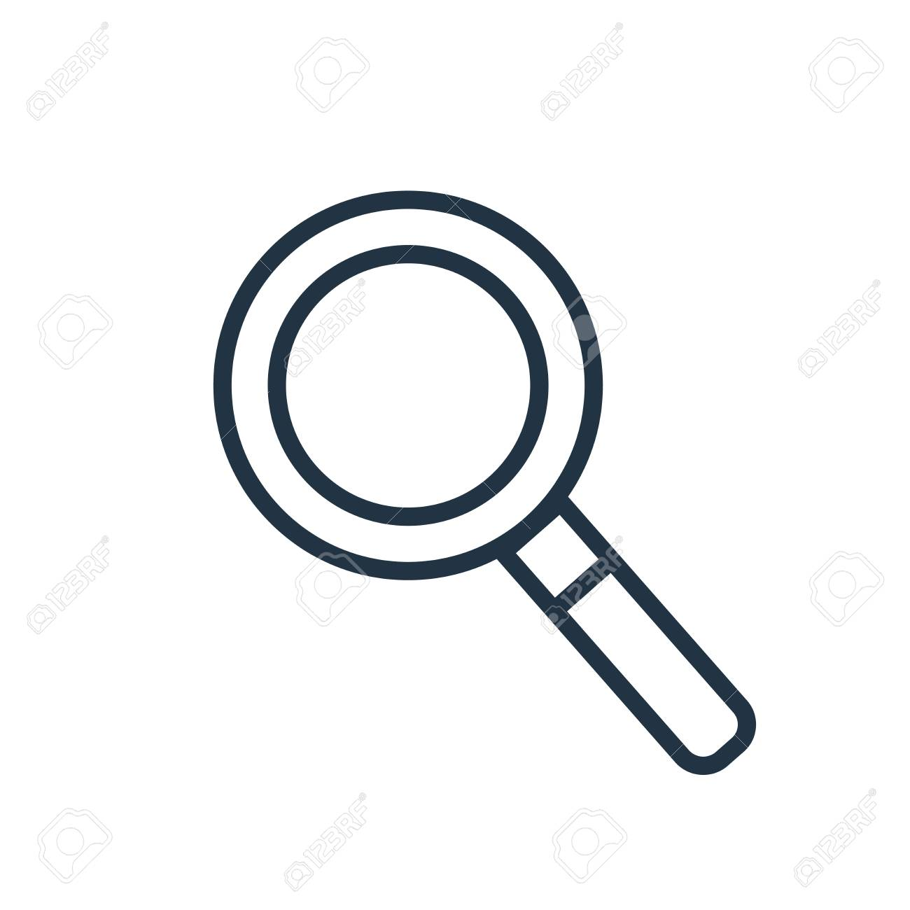 Magnifying glass icon vector isolated on white background, Magnifying glass transparent sign - 111604599