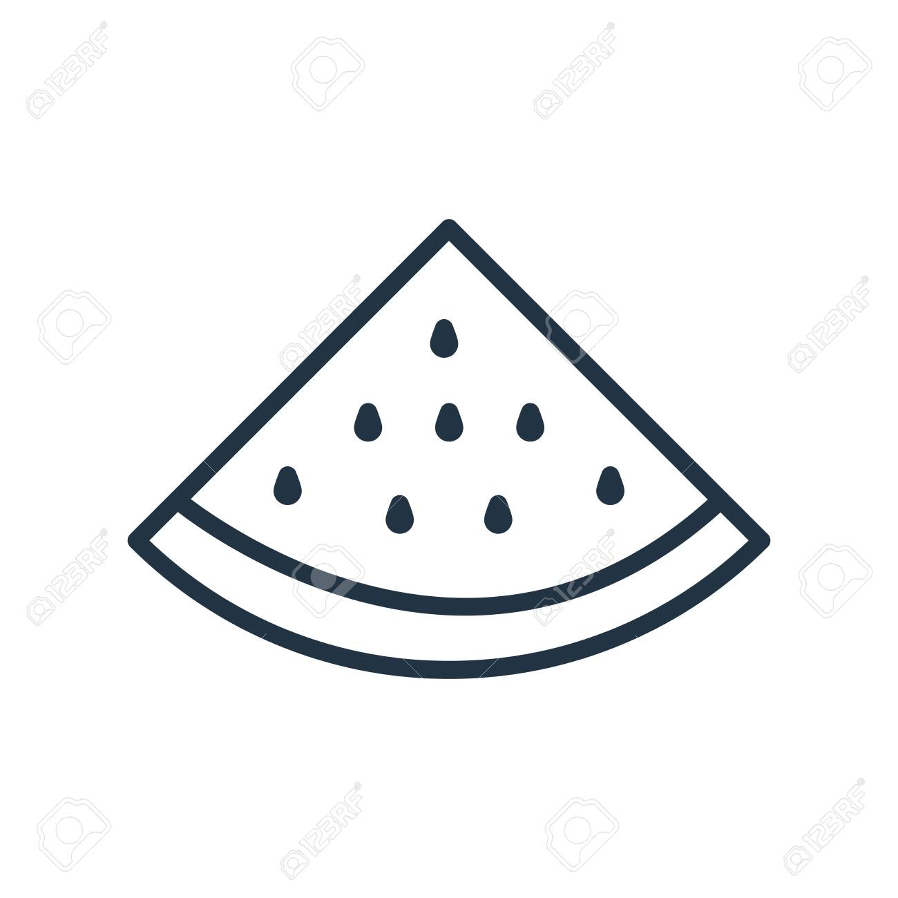 Watermelon icon vector isolated on white background, Watermelon transparent sign - 111605290