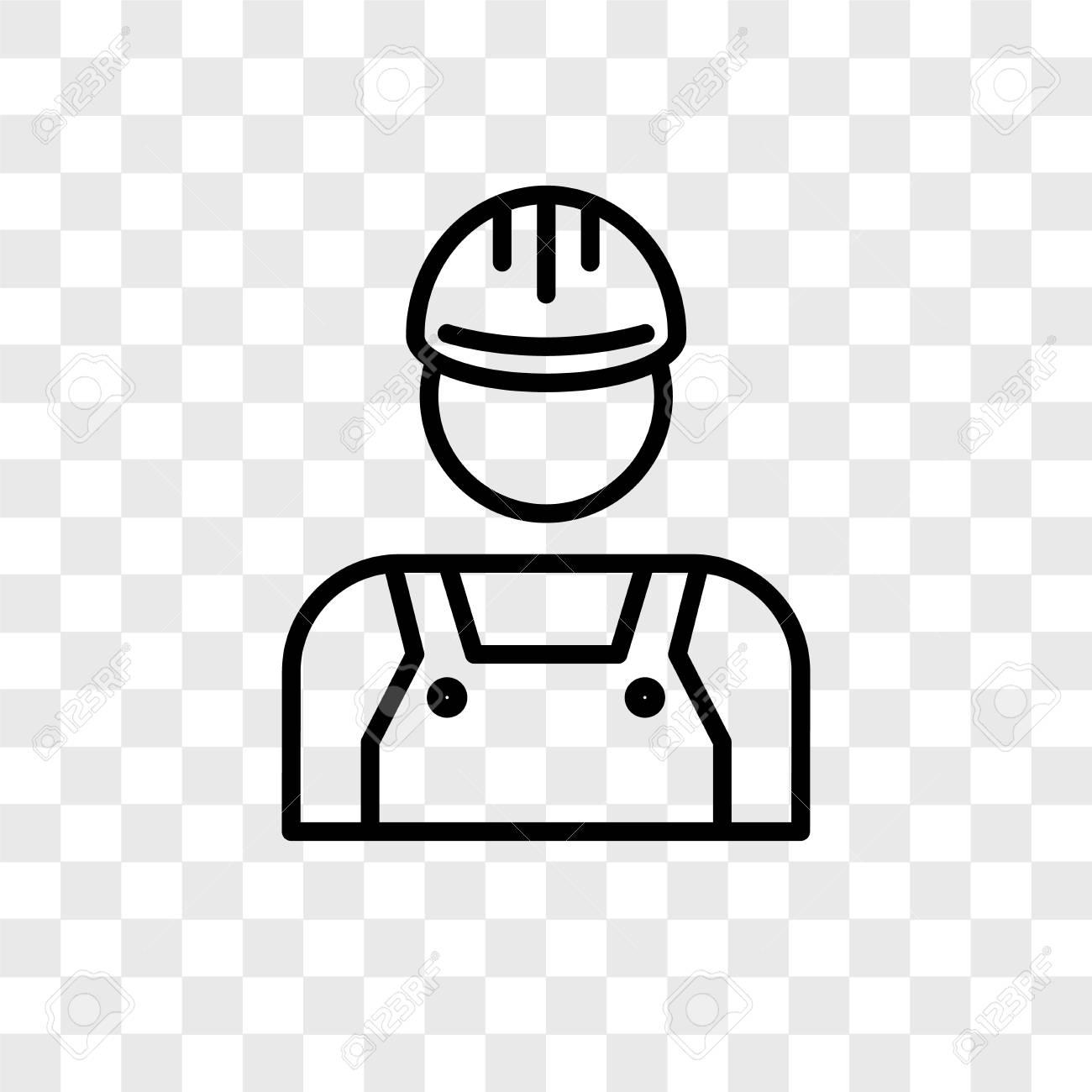 Technician Vector Icon Isolated On Transparent Background