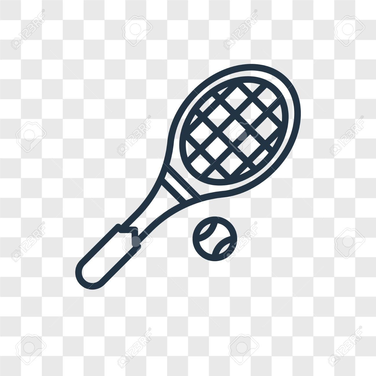 Tennis Racket Vector Icon Isolated On Transparent Background Royalty Free Cliparts Vectors And Stock Illustration Image 107701336