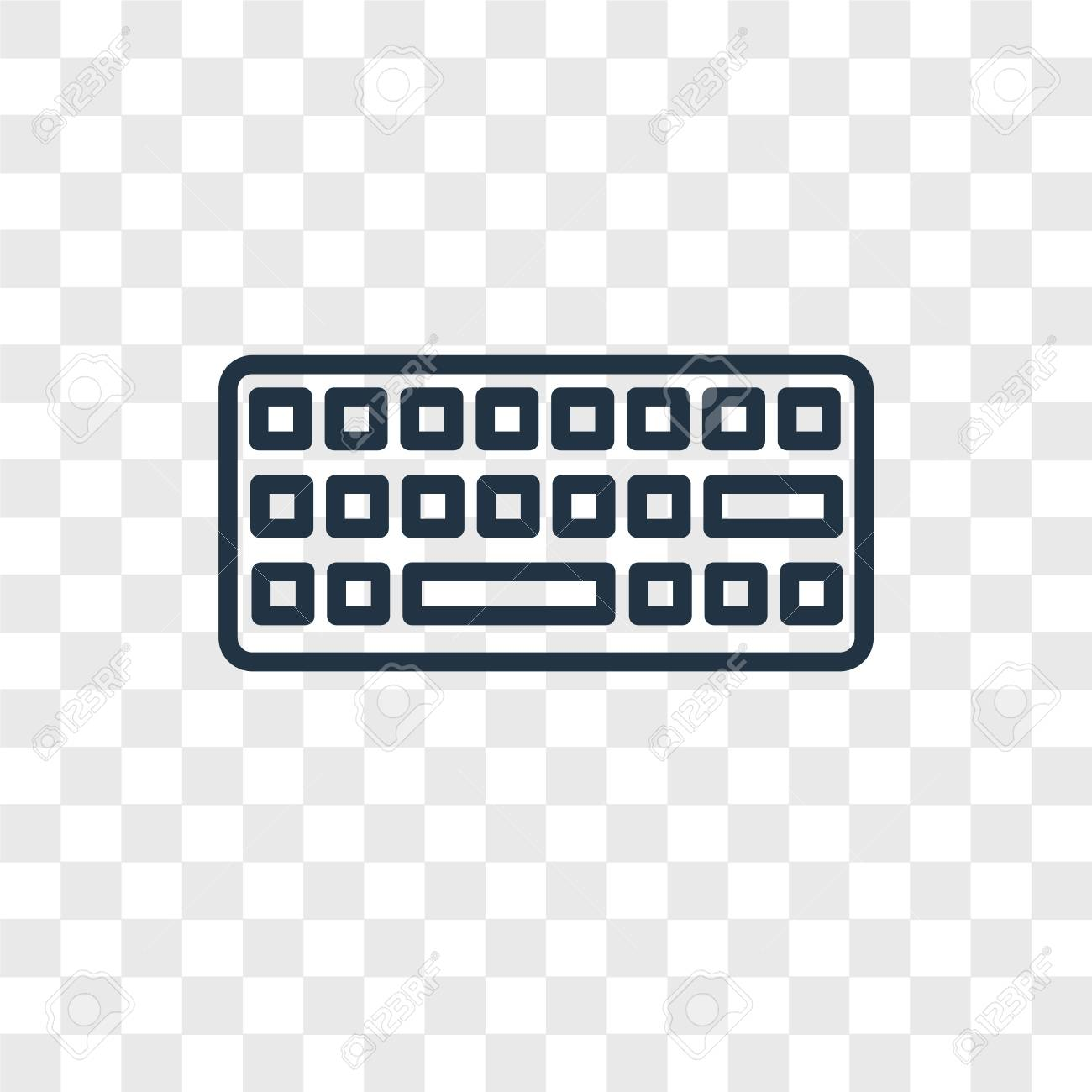 Keyboard Vector Icon Isolated On Transparent Background Keyboard Royalty Free Cliparts Vectors And Stock Illustration Image 107679487