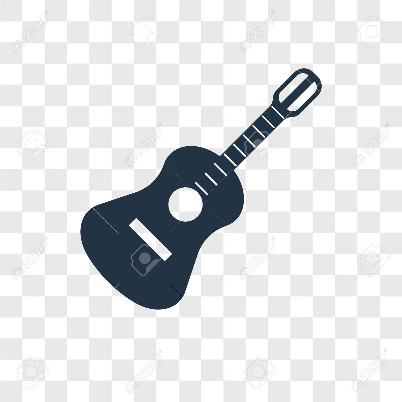 Guitar Vector Icon Isolated On Transparent Background Guitar Royalty Free Cliparts Vectors And Stock Illustration Image 107679318