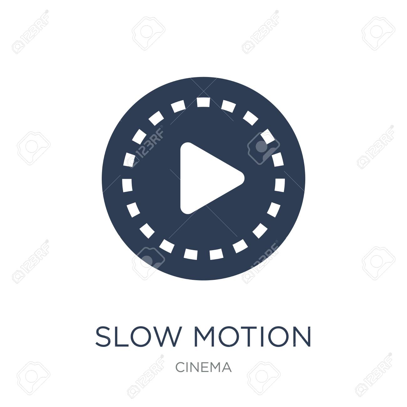 slow motion icon. Trendy flat vector slow motion icon on white background from Cinema collection, vector illustration can be use for web and mobile, eps10 - 111876732
