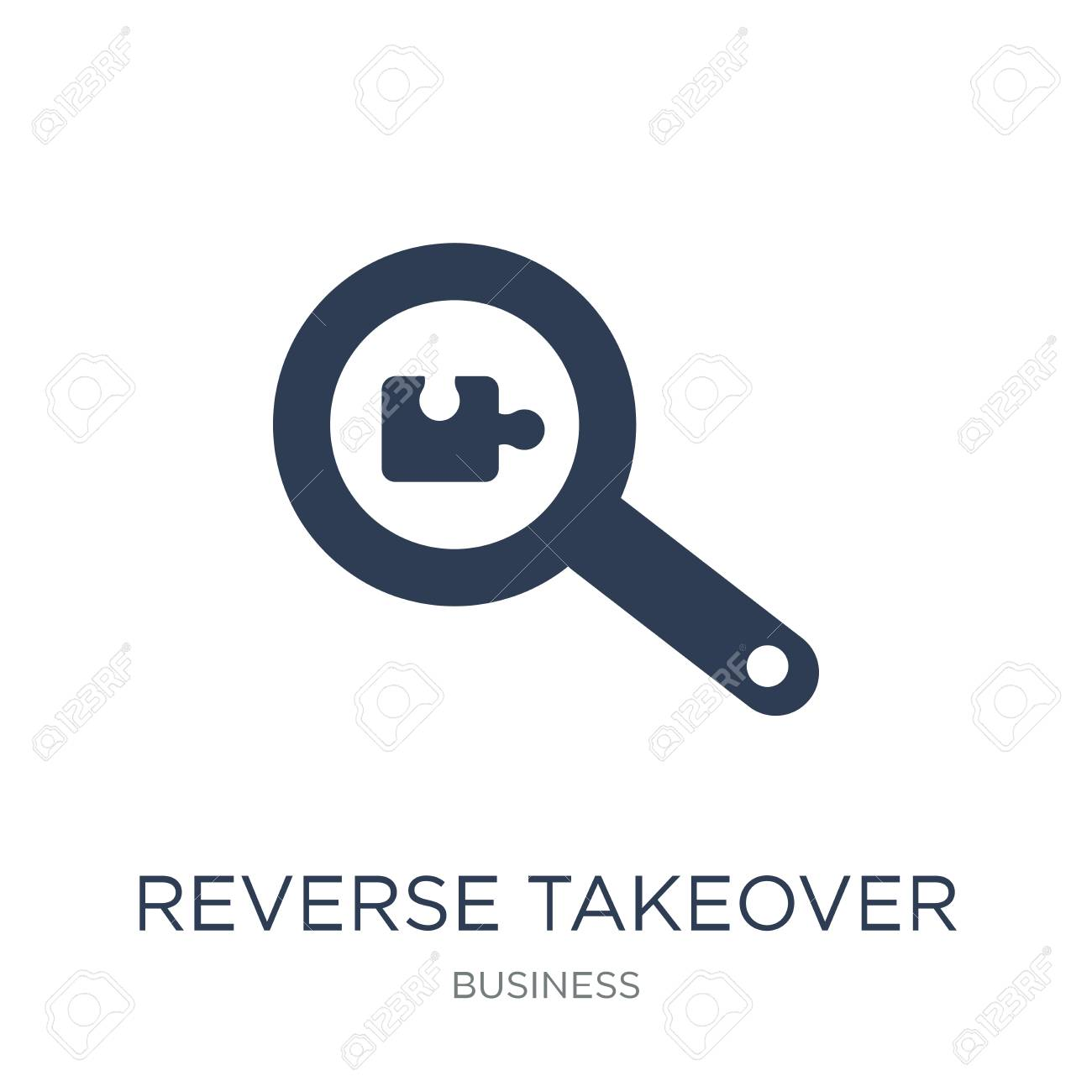 Reverse takeover icon  Trendy flat vector Reverse takeover icon