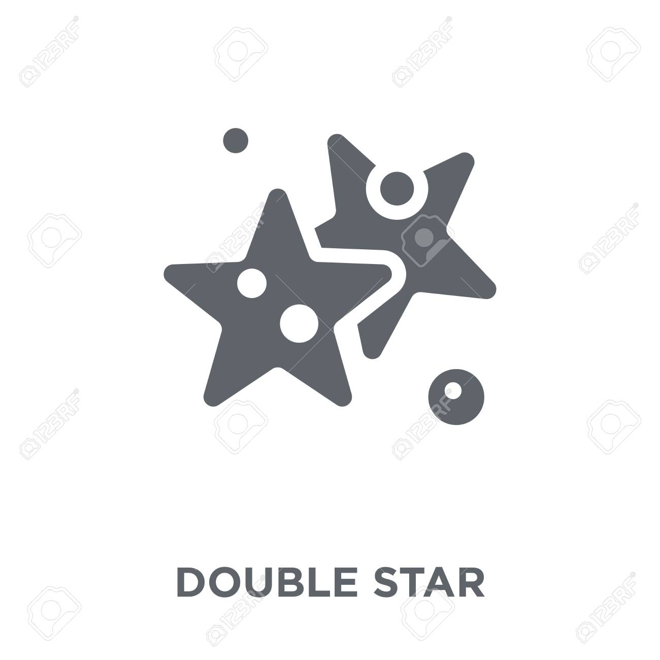 Double Star icon. Double Star design concept from Astronomy collection. Simple element vector illustration on white background. - 112046811
