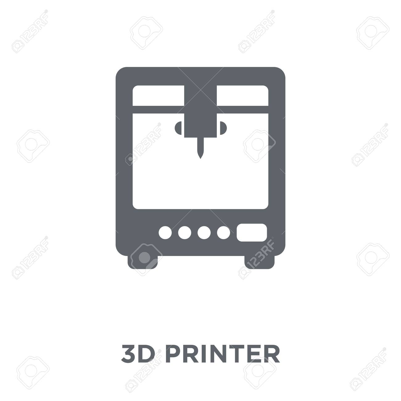 3d printer icon. 3d printer design concept from Electronic devices collection. Simple element vector illustration on white background. - 112097347