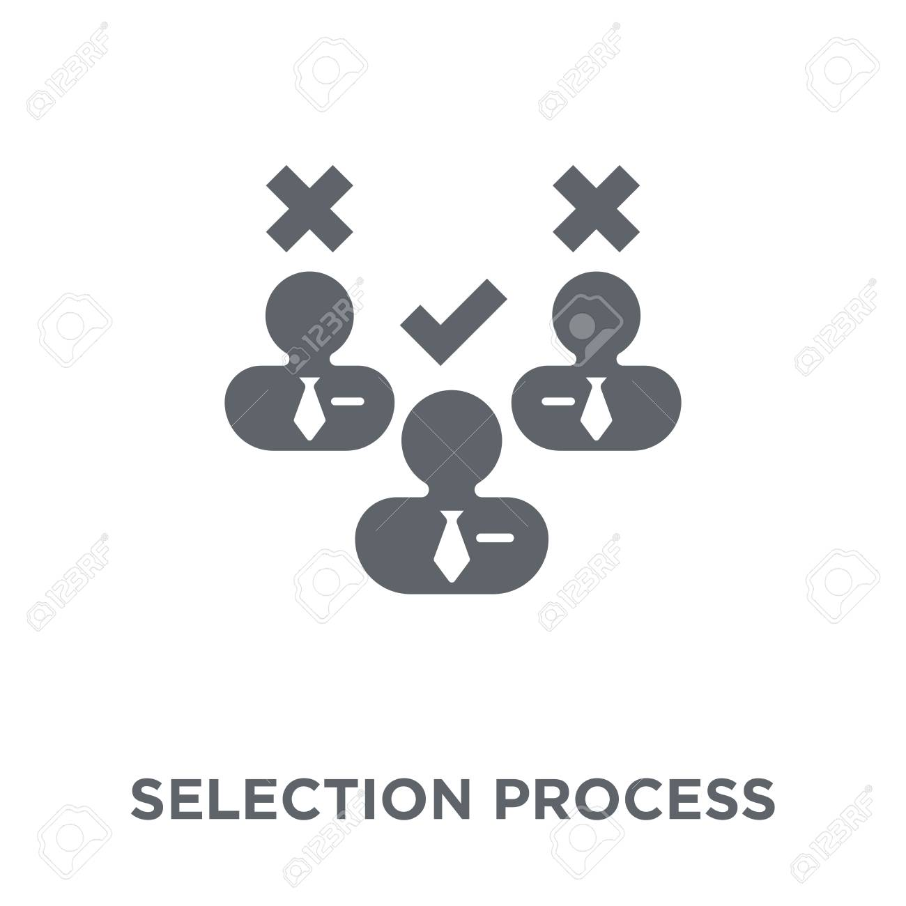 Selection process icon. Selection process design concept from Human resources collection. Simple element vector illustration on white background. - 111974083