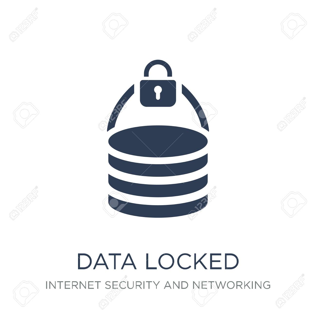 data locked icon. Trendy flat vector data locked icon on white background from Internet Security and Networking collection, vector illustration can be use for web and mobile, eps10 - 112102057
