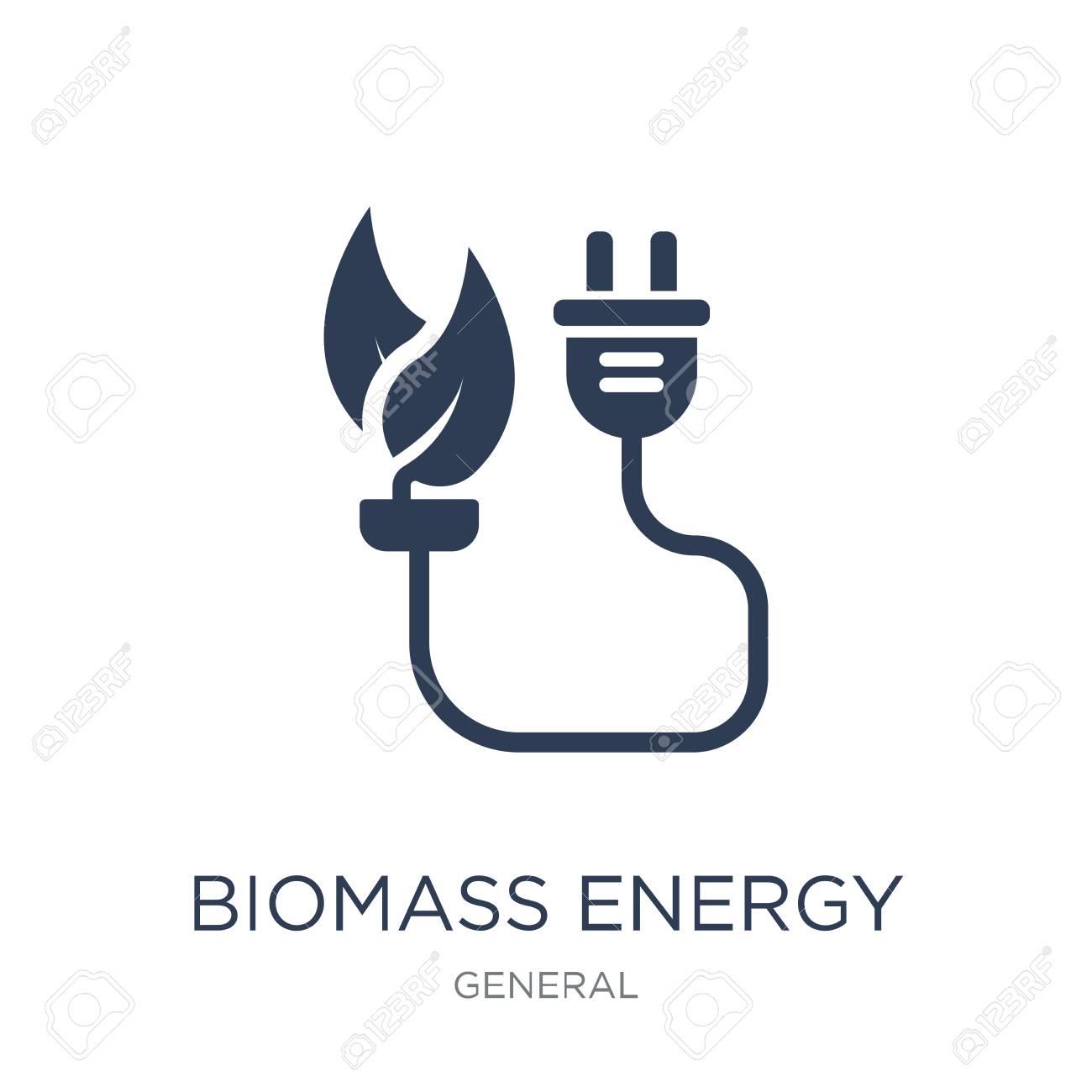 biomass energy icon  Trendy flat vector biomass energy icon on