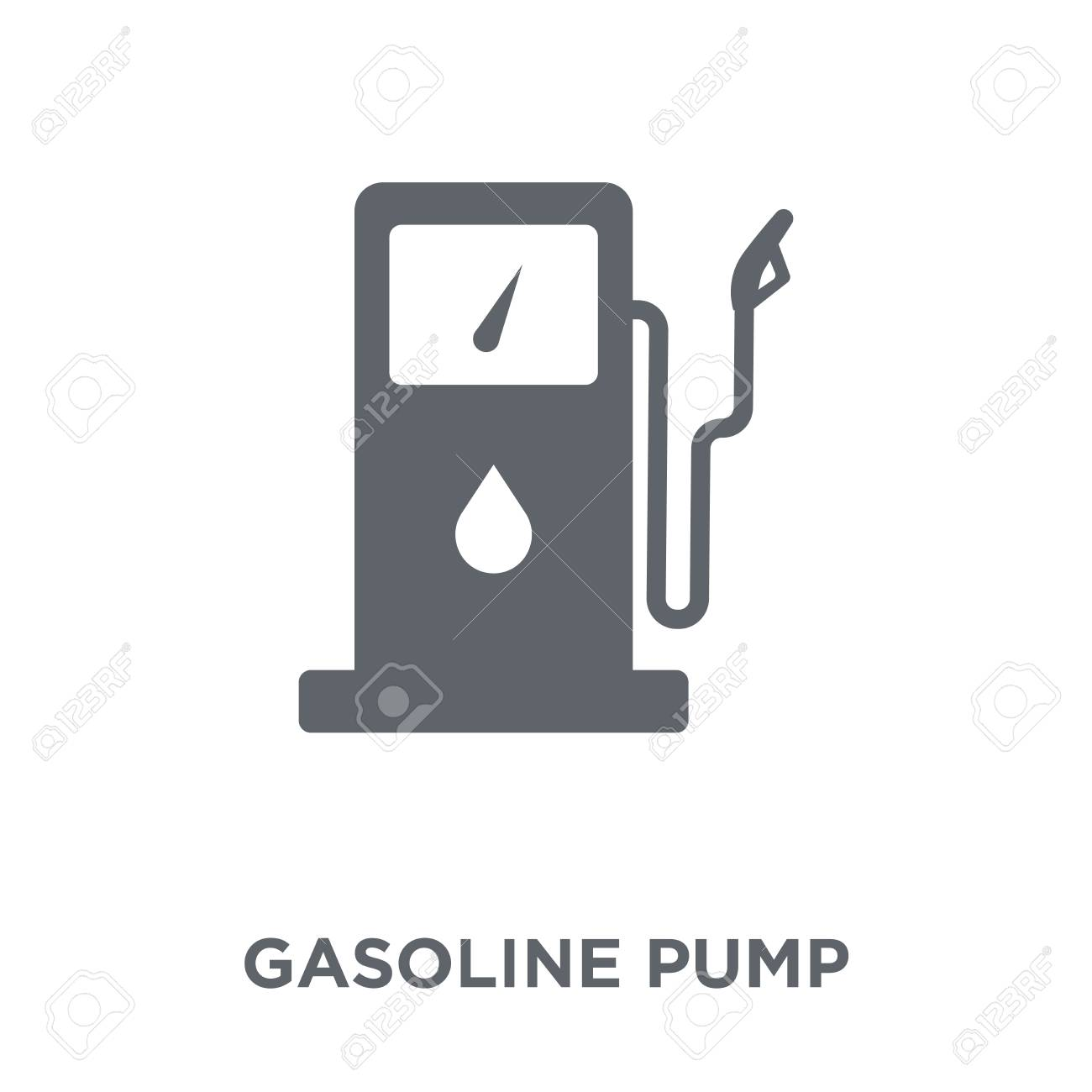 Gasoline pump icon. Gasoline pump design concept from Industry collection. Simple element vector illustration on white background. - 112230234