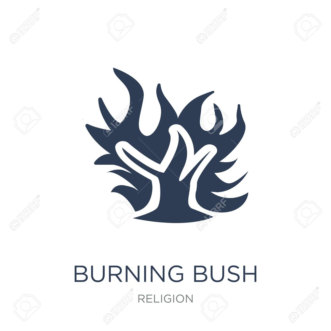 Burning Bush icon. Trendy flat vector Burning Bush icon on white background from Religion collection, vector illustration can be use for web and mobile, eps10 - 112236140