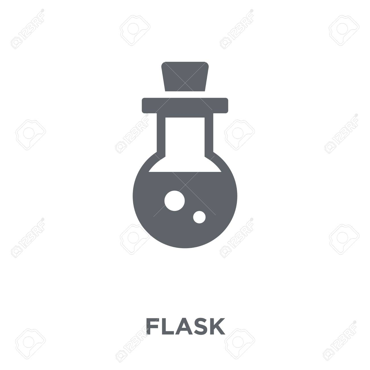 Flask icon. Flask design concept from collection. Simple element vector illustration on white background. - 112276593