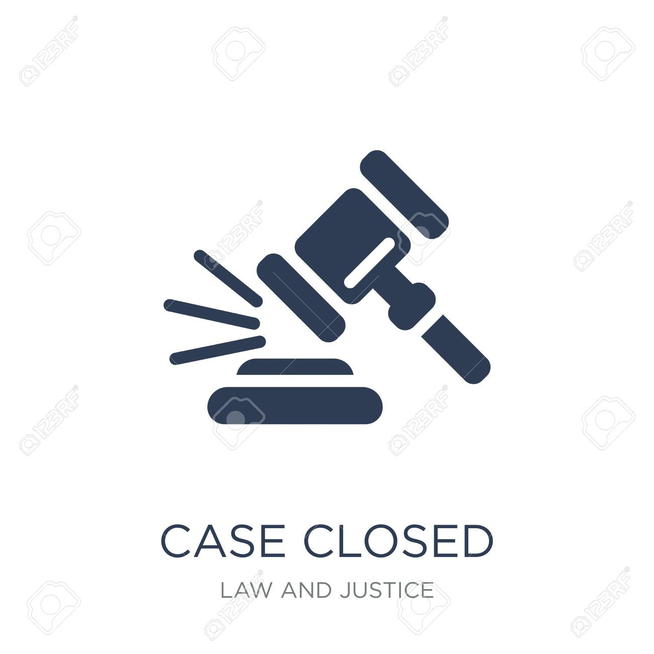 Case closed icon. Trendy flat vector Case closed icon on white background from law and justice collection, vector illustration can be use for web and mobile, eps10 - 112281014