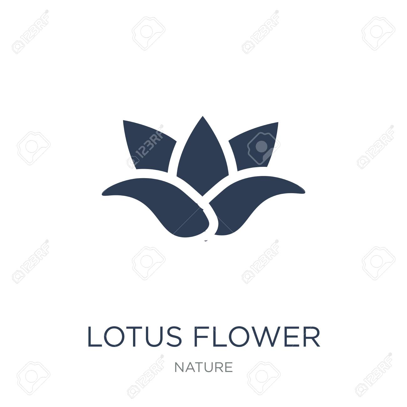 Lotus flower icon. Trendy flat vector Lotus flower icon on white background from nature collection, vector illustration can be use for web and mobile, eps10 - 112281263