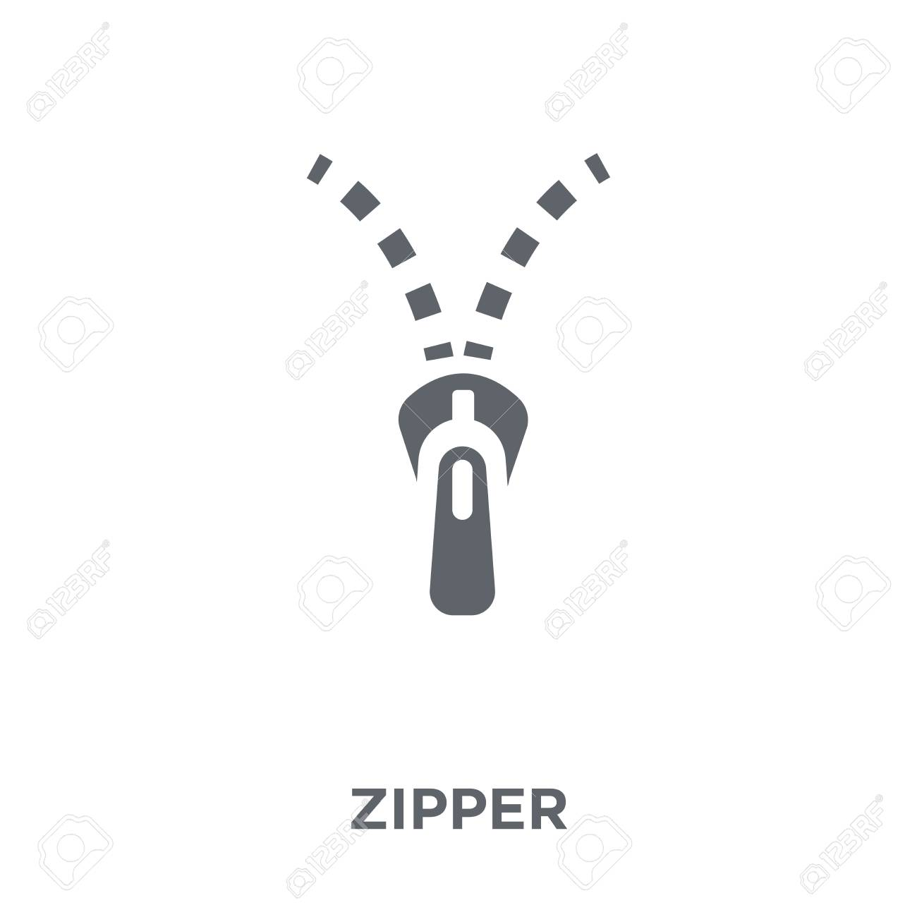 Zipper icon. Zipper design concept from collection. Simple element vector illustration on white background. - 112320693