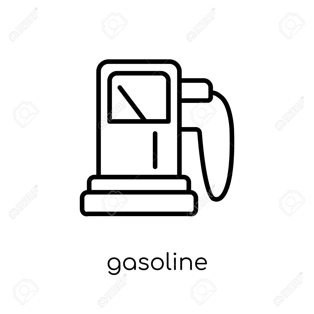 gasoline icon. Trendy modern flat linear vector gasoline icon on white background from thin line Ecology collection, outline vector illustration - 112233943