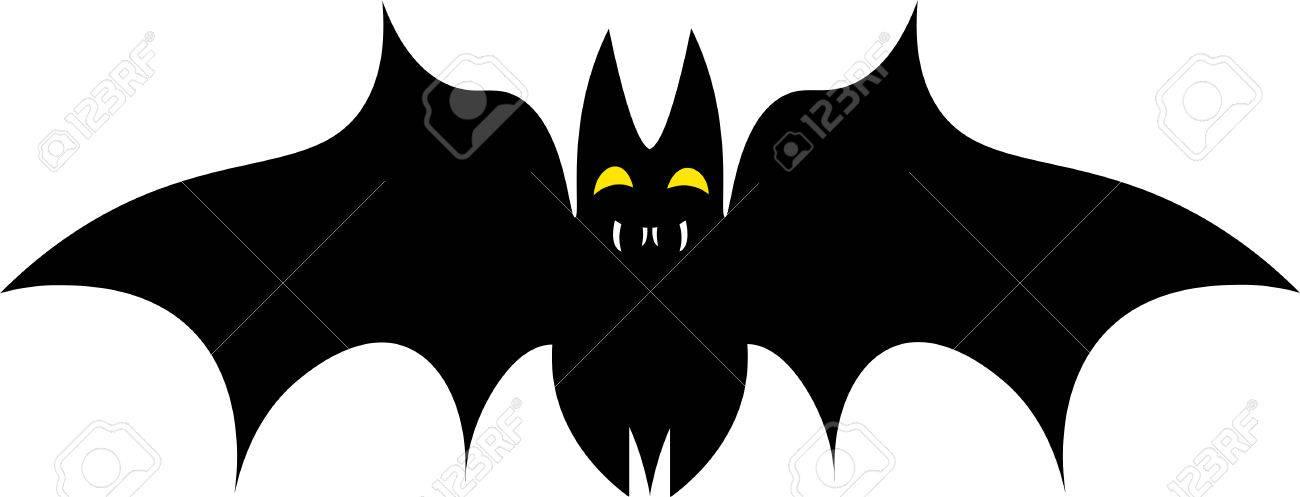 Ilustración Vectorial Silueta De Un Solo Dibuja Negro Murciélago