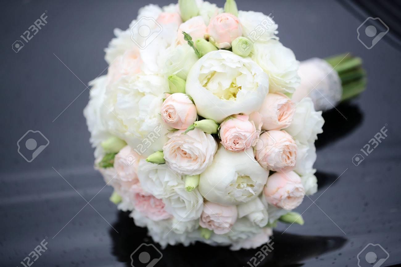 Schone Frische Weiche Hochzeit Dekorative Runde Form Strauss Rosa