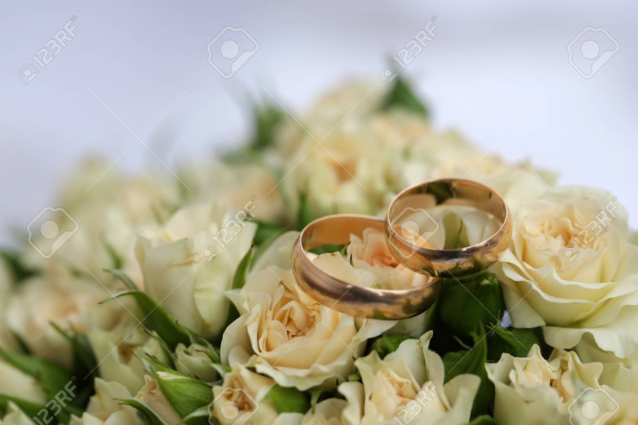 Closeup View Of One Beautiful Fresh Bright White Yellow Big Wedding